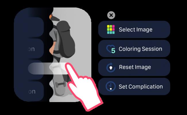 Coloring Watch menu
