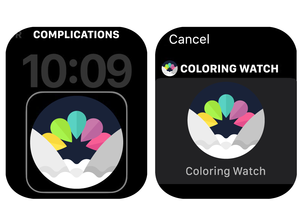 Coloring Watch Tutorial Set Complication